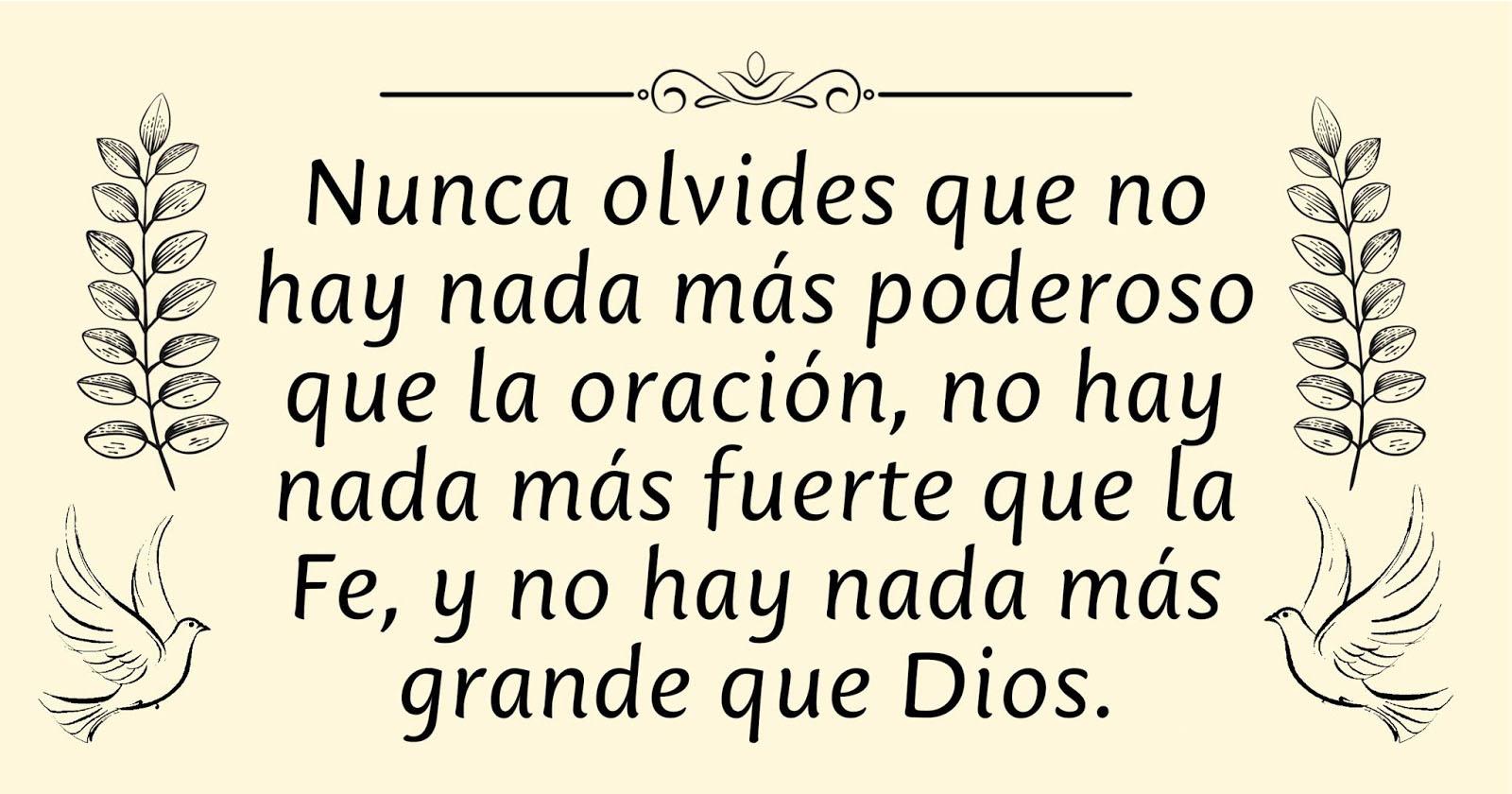 Oración a Dios Padre, Hijo y Espíritu Santo.