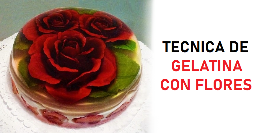 Así se colocan hermosas flores 3D dentro de una gelatina