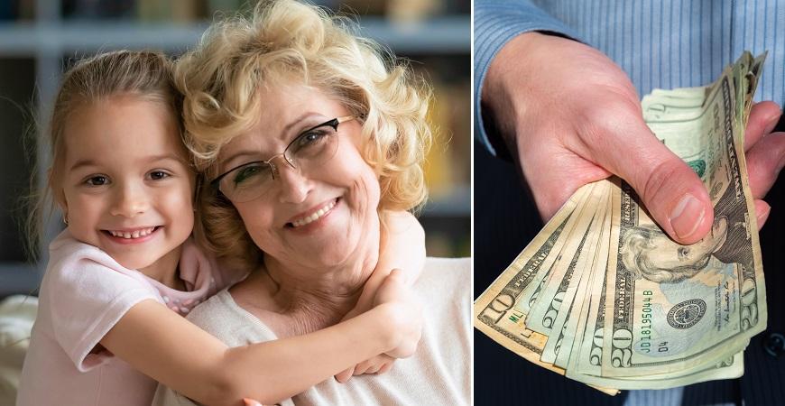 La historia de la abuela que cobra por cuidar a sus nietos